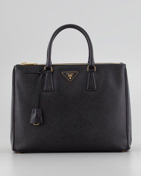 Prada - Saffiano Executive Tote Bag, Black - perfect work tote. #handbags #