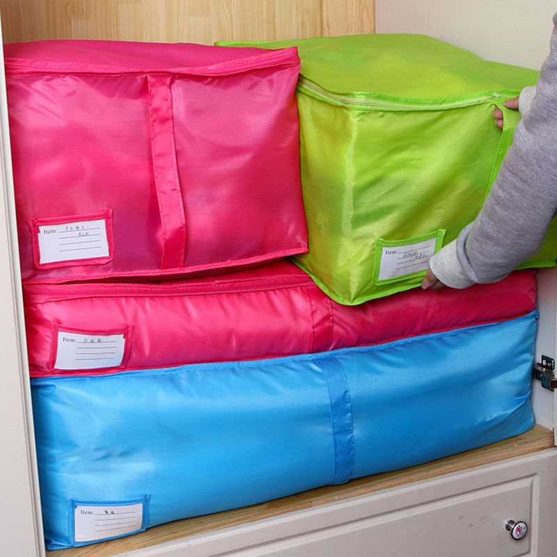 Blue/Red Delicate Hot New Storage Box Portable Organizer Non Woven Clothing Pouch Holder Blanket Pillow Underbed Storage Bag Box & Durable Blue/Red Home Storage Bag Clothes Quilt Bedding Duvet Zipped ...