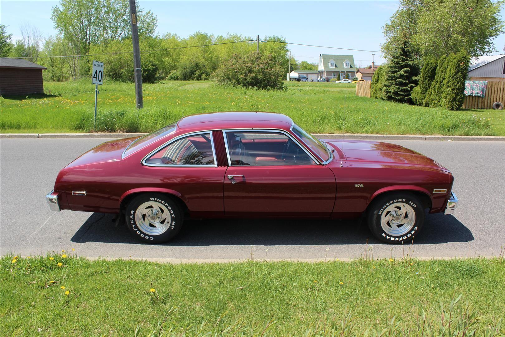 76 Nova Vendre Chevrolet Nova 1976 2porte Automatique V8 305 61 000mi Chevy Nova Nova Car Chevrolet Nova