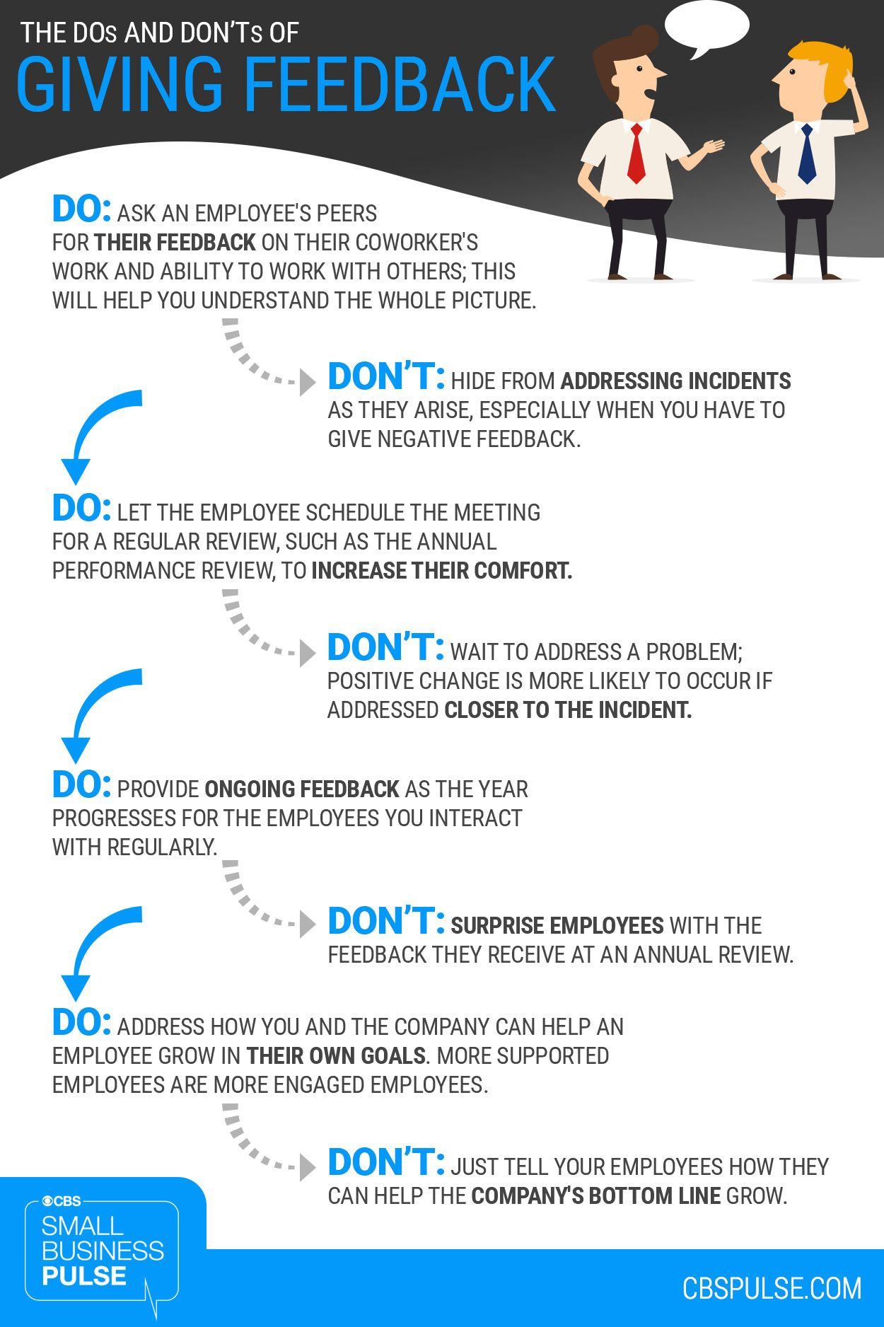 Infographic The Dos Amp Donts Of Giving Feedback To