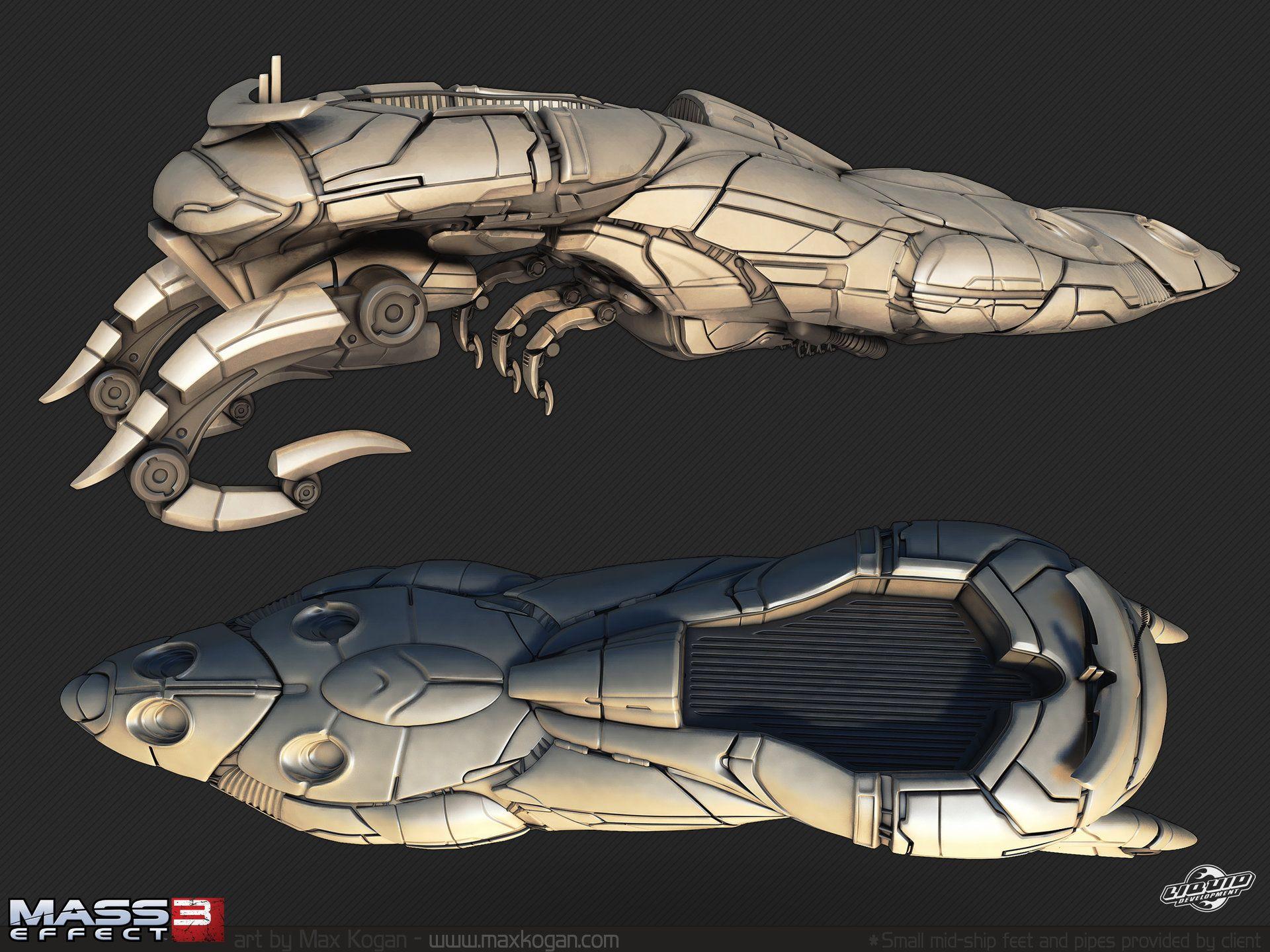 ArtStation - Mass Effect 3 Geth Cruiser, Max Ko