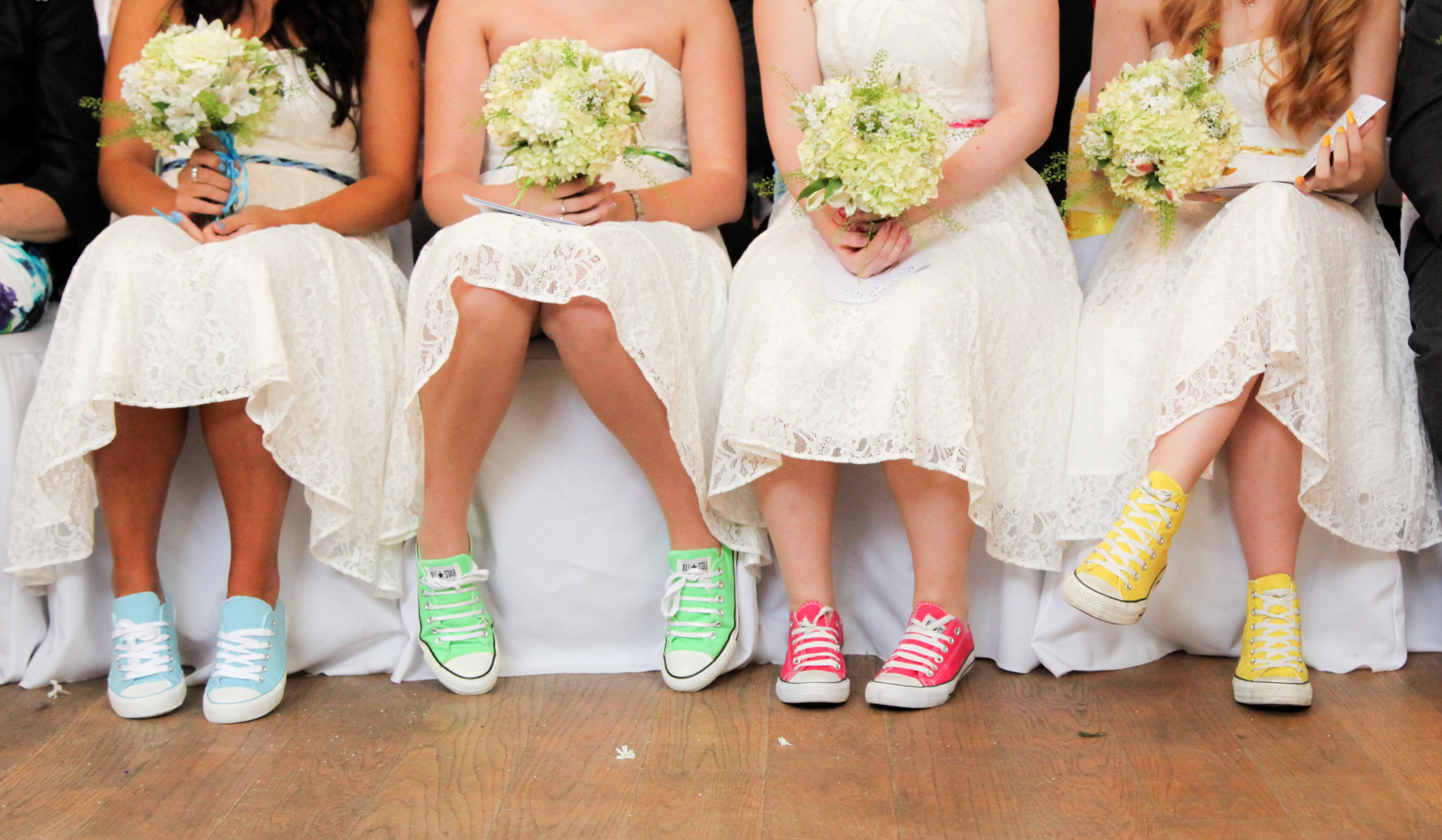 Converse bridesmaids karas wedding pinterest converse i loved my bridesmaids colourful converse they all looked so cute in their ivory dresses ombrellifo Images
