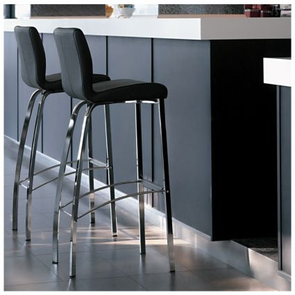 The Yeppon Modern Leather Bar Stool Would Make An Attractive Addition To Your Home Or Breakfast Bar The Comfortable Bar Stools Bar Stools Breakfast Bar Chairs