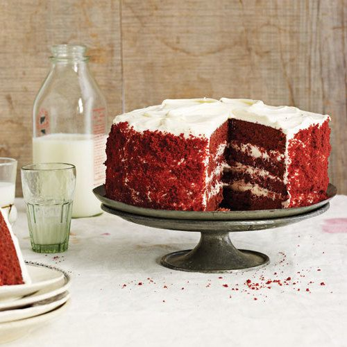 Red velvet cake is a dessert that everyone oohs and aahs over—it's tall, dark, and handsome, with deep crimson cake layers and a thick coating of cream cheese frosting above, around, and between.Thisred velvet cake recipe excerpted from David Guas and Raquel Pelzel's DamGoodSweet, isabout as southern as a cake can be, but their version veers a bit from tradition. Browse our special collections for moreimpressive layer cakesandrecipes perfect for Valentine's Dayor yourMardi Gra...