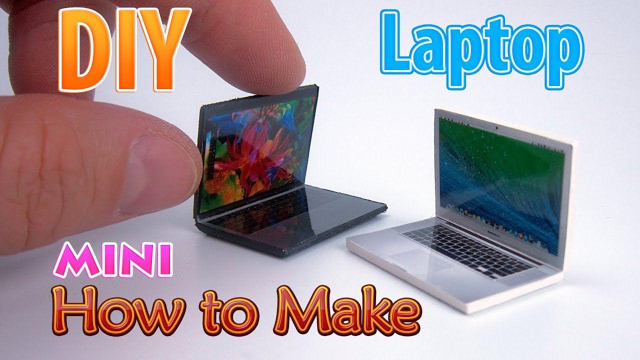 Diy Realistic Miniature Laptop Dollhouse No Polymer
