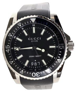 2729ae20c GB1021741-J Gucci Dive Watch Model: 136.2 Serial: 15220331 Color: Black  Material: Stainless steel-black PVD and black rubber…