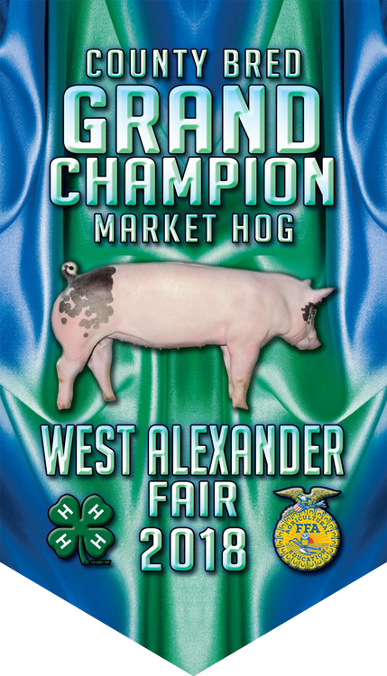 Grand Champion Market Hog Fair Banner | SWC Awards | Erie