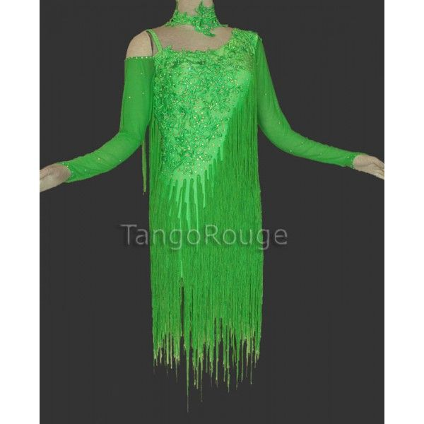 Lime Green Fringe Dress