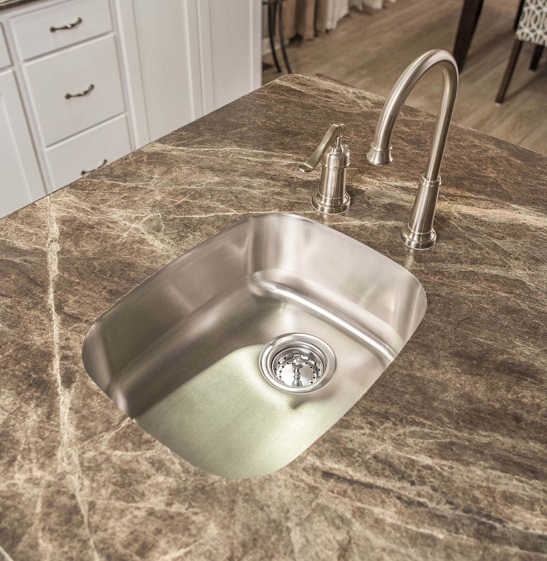 Undermount Prep Sink In The #Kitchen Island