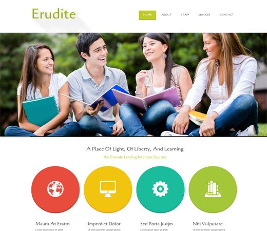 Erudite Education Mobile Website Template | Free Education HTML ...