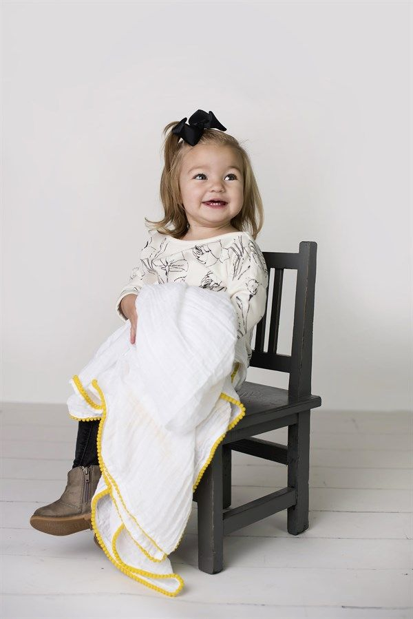 Pom-Pom & Print Muslin Swaddle Blankets | Oh, Baby! | Muslin