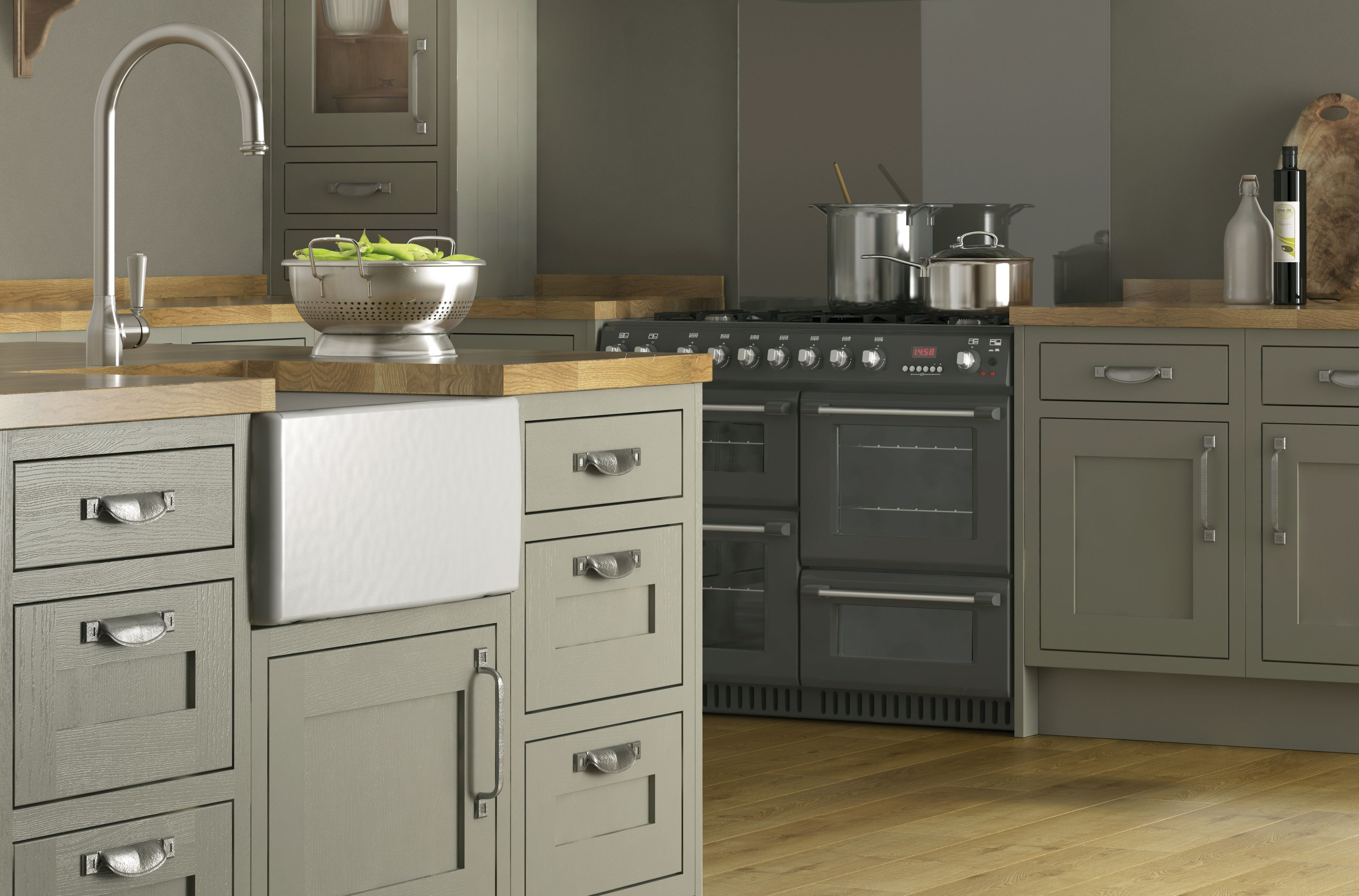 Image of the Carisbrooke Taupe Framed kitchen Taupe