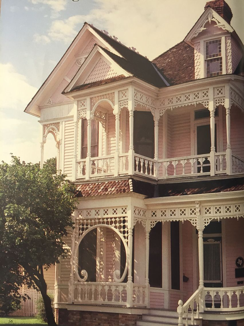 Victorian house in Waxahachie Texas. & Spring 1988. Victoria Magazine. Victorian house in Waxahachie Texas ...