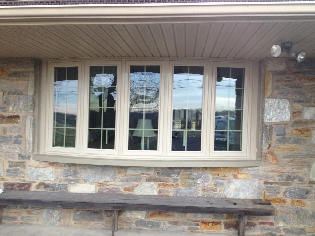 Keystone Window Of Pennsylvania Installed This New 5 Lite Tan Bow On Home