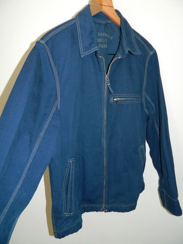 mens Blue Harbour / M & S blue denim style summer jacket size Medium Ref (A102) | eBay