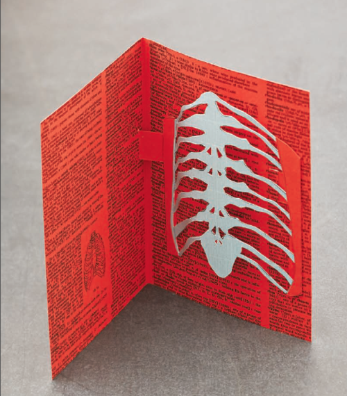 How To Make A Skeleton Rib Cage Pop Up Card From The Book Playing