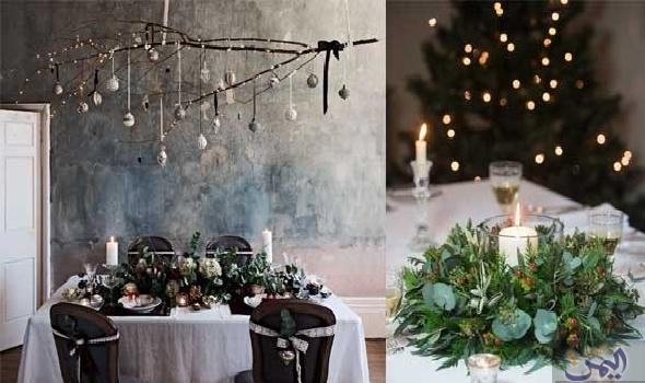 لمسات فاخرة لتصميم طاولة عيد الميلاد باستخدام ديكورات احتفالية بسيطة Table Decorations Decor Home Decor