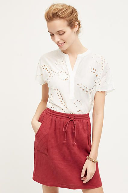 Anthropologie - Harlyn Palm Island Skirt, women, fashion, clothing, clothes…