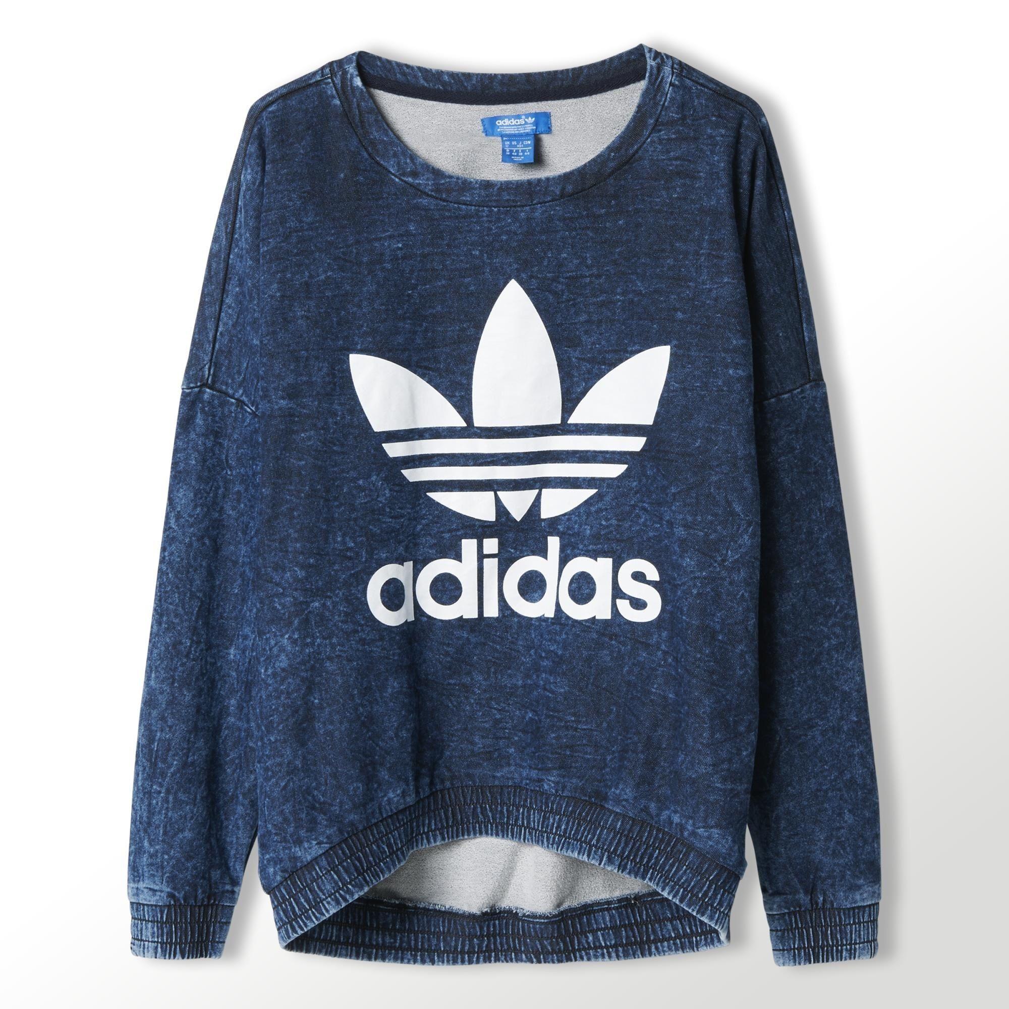 adidas Womens French Terry Acid-Wash Crewneck Sweatshirt | adidas Canada