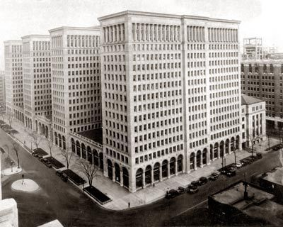 General Motors Building 1939 Detroit History Dearborn Michigan