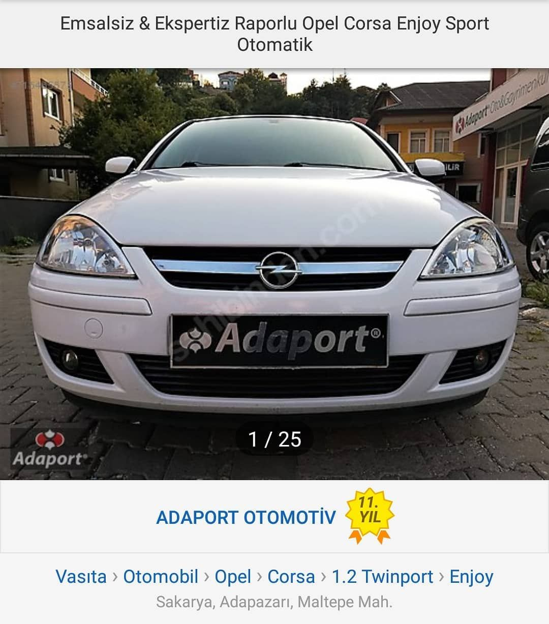 Satilik 2006 Model Opel Corsa 1 2 16v Twinport Eastronic