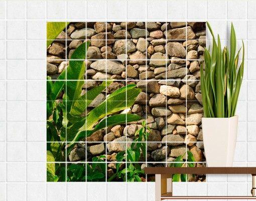 Badezimmer aufkleber ~ Fliesenbild #stonewall of nature #fliesensticker #fliesenbild