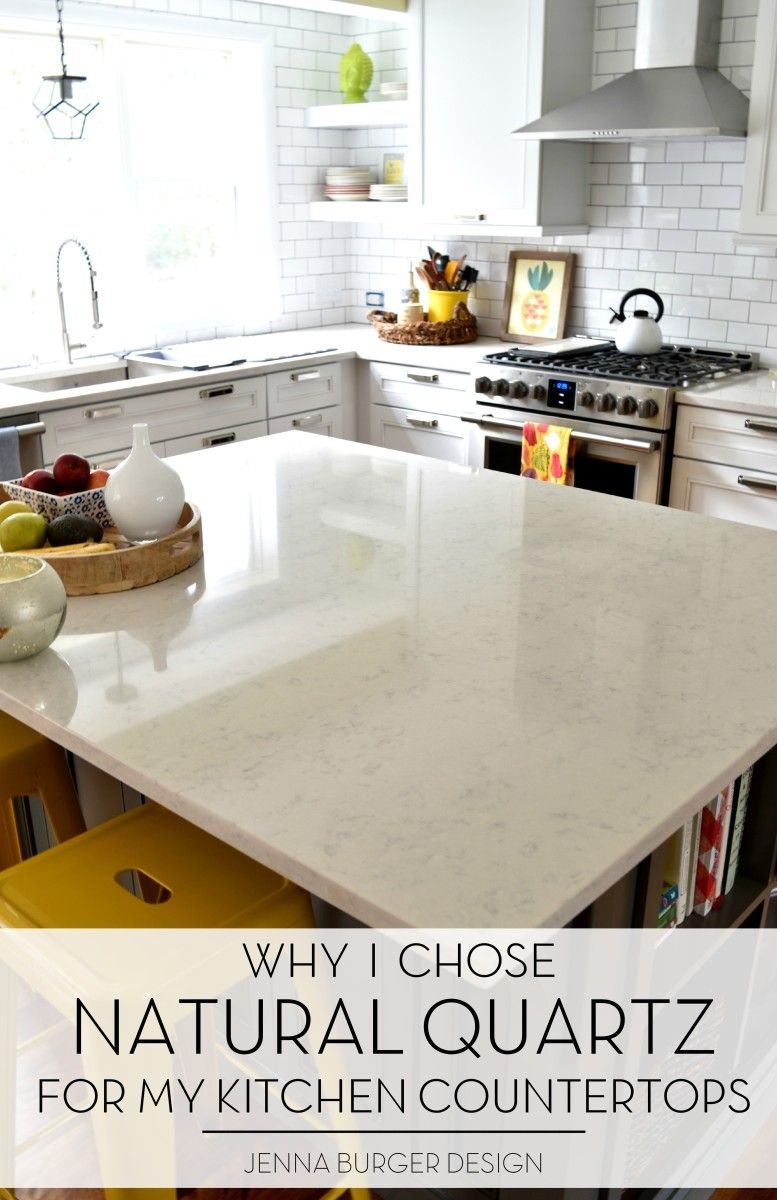 Natural Quartz Countertops In The Kitchen Was A Great Choice It S Durable Maintenance Free And So Stylish Check Out More At Www Jennaburger