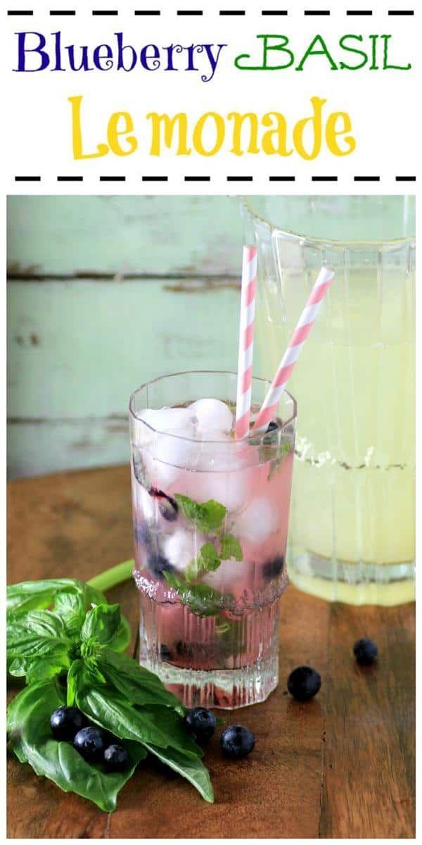 Blueberry Basil Lemonade - Noshing With the Nolands #basillemonade