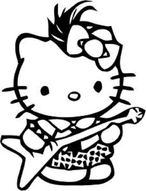 Hello Kitty Gymnastics Coloring Pages : Hello kitty gymnastics coloring pages kids