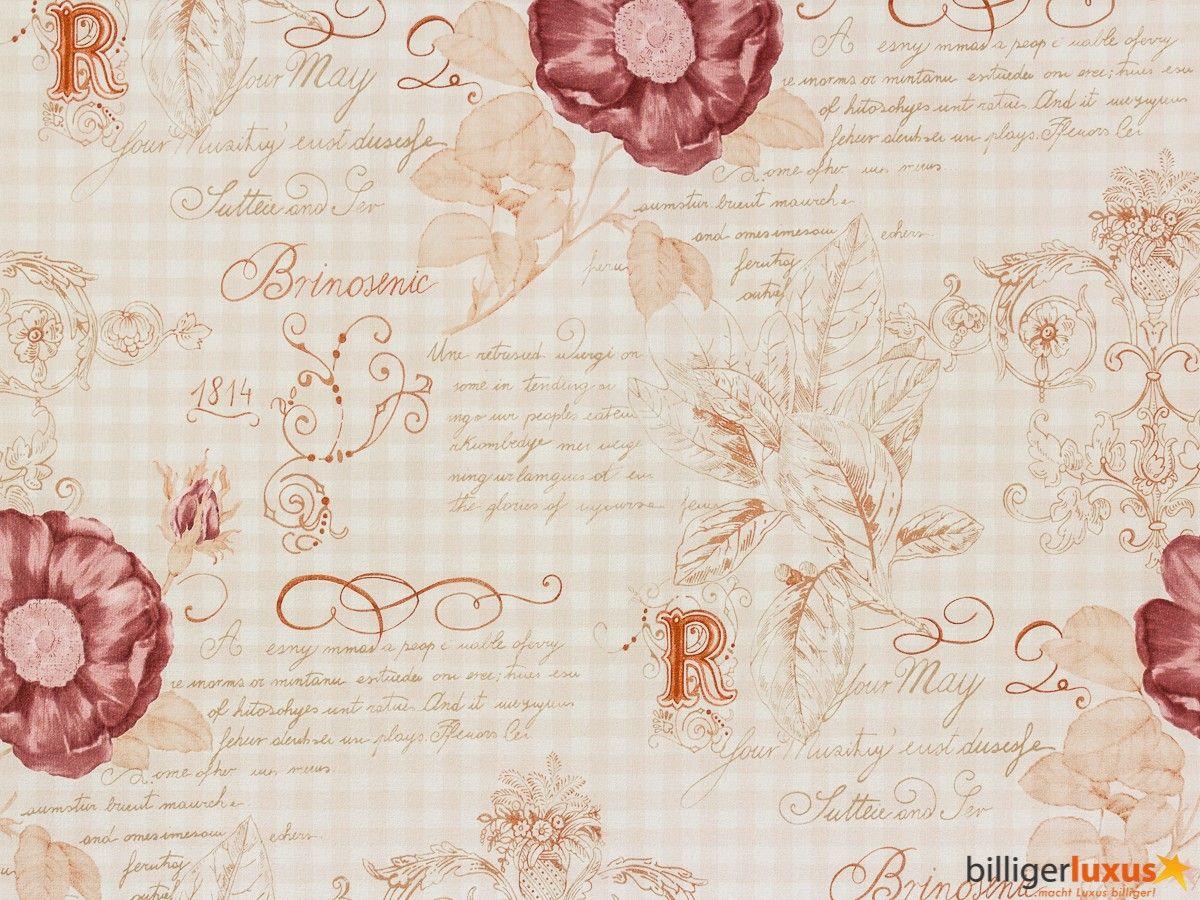 Rasch Textil Tapeten VINTAGE DIARY Tapete Landhaus Stil 255088 Rosen Weiß Braun  Tapeten Rasch Textil Vintage