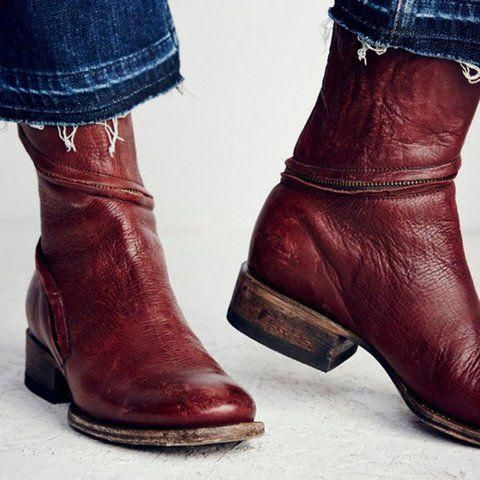 f929f6cf729 Buy Boots For Women at JustFashionNow. Online Shopping Justfashionnow  Women s Boots Red Brown Zipper Casual