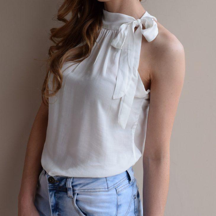da15165b3e regata-gola-laço-blusa-branca-gola-alta-linda-moda-tendencia-comprar ...
