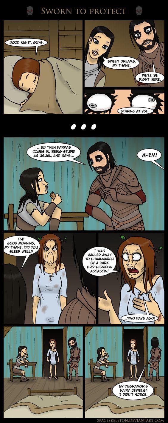 Sworn to protect | Skyrim funny, Skyrim comic, Skyrim