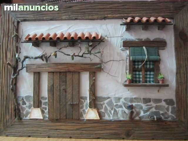 Cuadro fachada rustica artesanal foto 1 tejas fachadas for Manualidades para casa rustica