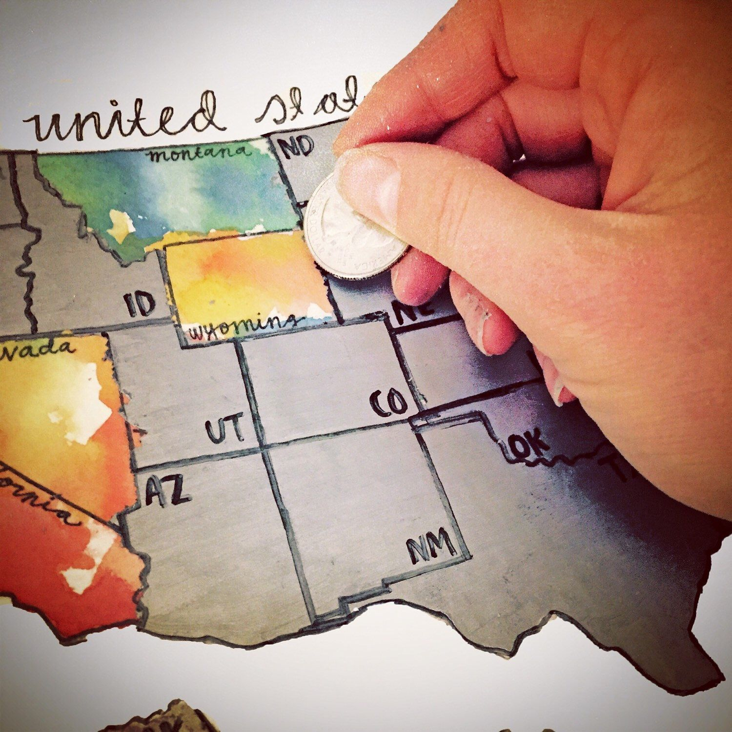 Places Ive Been Large Original Scratch Off Map Of The United - Map of states ive been to