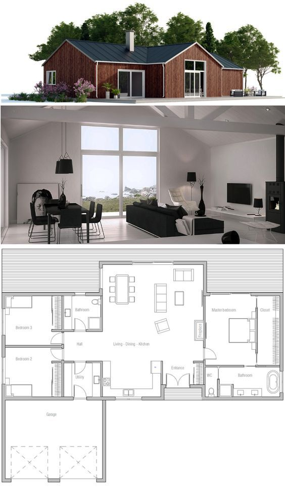 Small House Plan More Small House Plans Affordable House Design House Plans