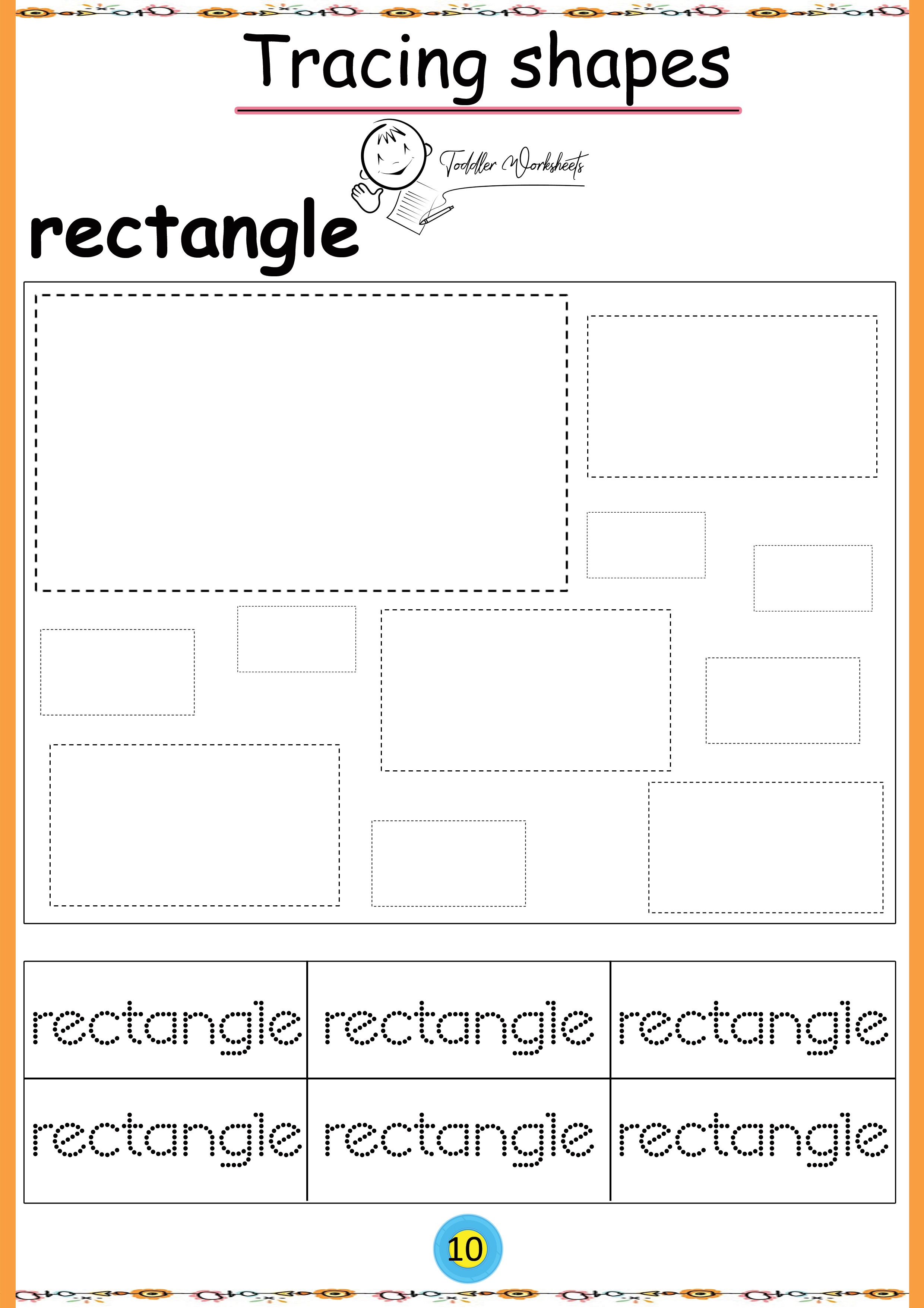 Free Preschool Shapes Worksheets With Images