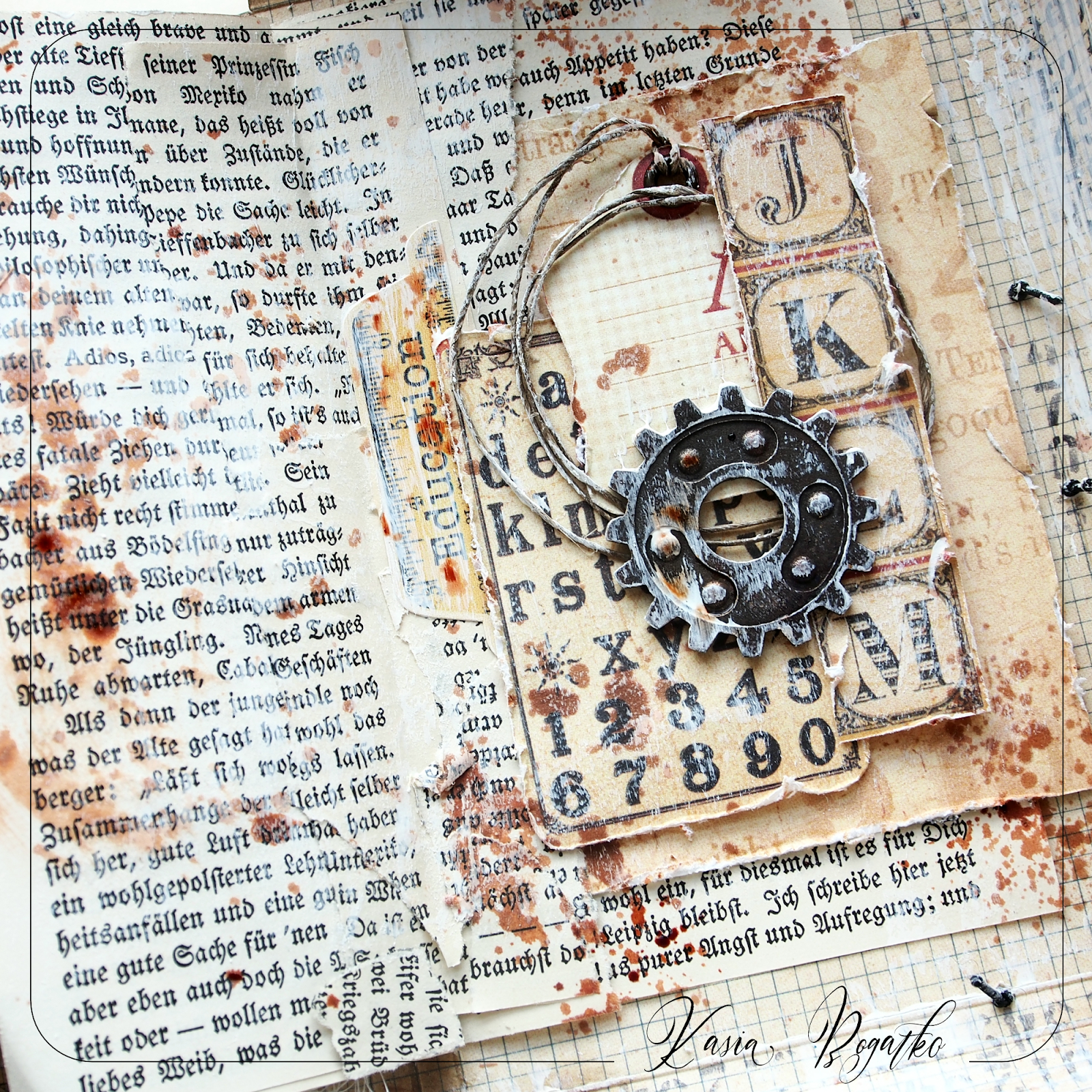 School Year - Junk Journal Mixed Media Journal, Library Card, Everyday  Items, Junk