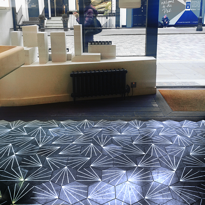 HEX60 Blue Handmade Encaustic Hexagon Floor Tile   Otto Tiles & Design   Encaustic, Moroccan and ...