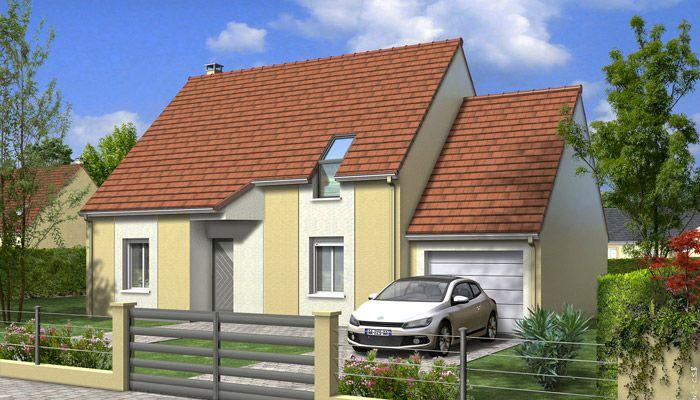 Maison individuelle en V - Modèle Tulipe Plan de maison 3D optimale
