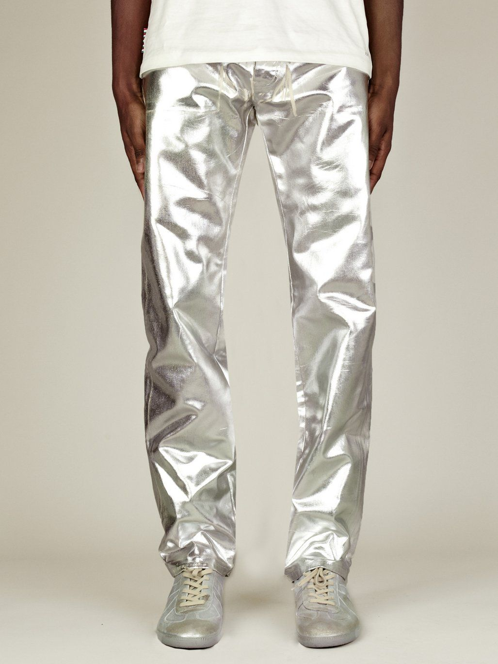 Maison Martin Margiela 10 Men's Silver Five-Pocket Jeans | oki-ni ...