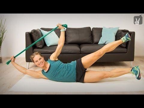 Fitness Workout: Krafttraining zur Entspannungsförderung mit dem Thera Band - Y... - Sport - #Band #...