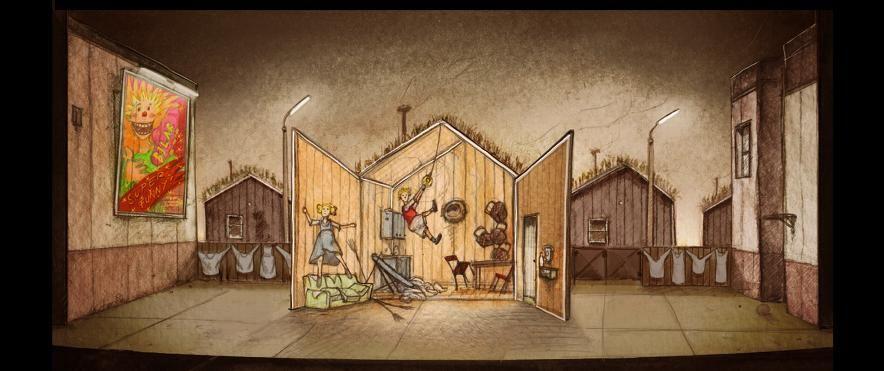 """projects & drawings theater - etienne pluss """"hansel und gretel"""""""