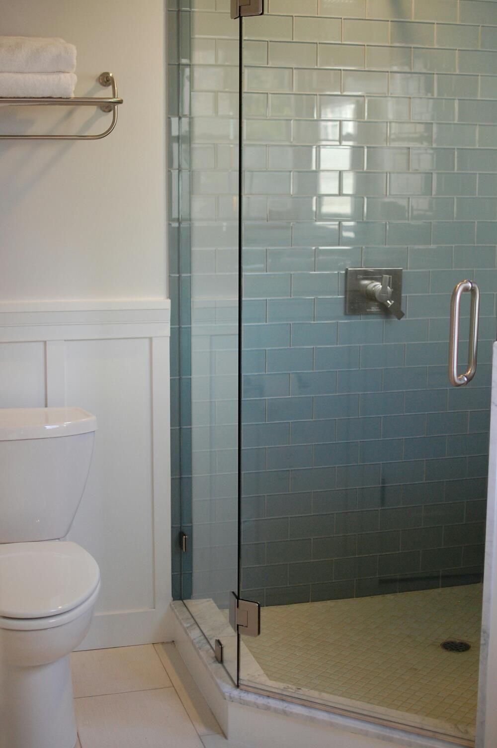Ocean Glass Subway Tile Master Bath Remodel Pinterest Subway