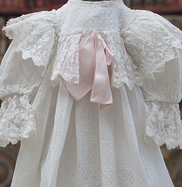 """Antique Original French Dress for Jumeau Bru Steiner Eden bebe doll 26-27"""""""