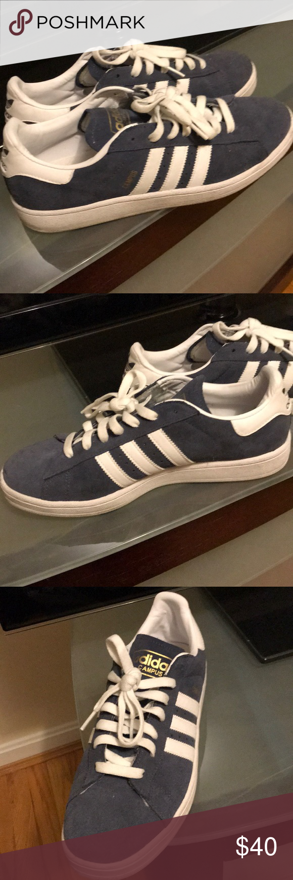 Adidas Men's Campus Shoes Size 10, Like New!   Adidas men, Blue ...