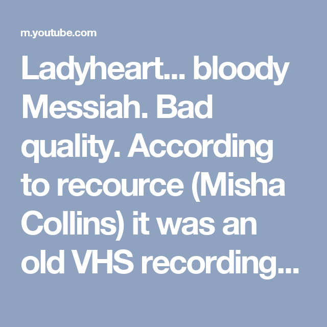 ladyheart bloody messiah bad quality according to recource