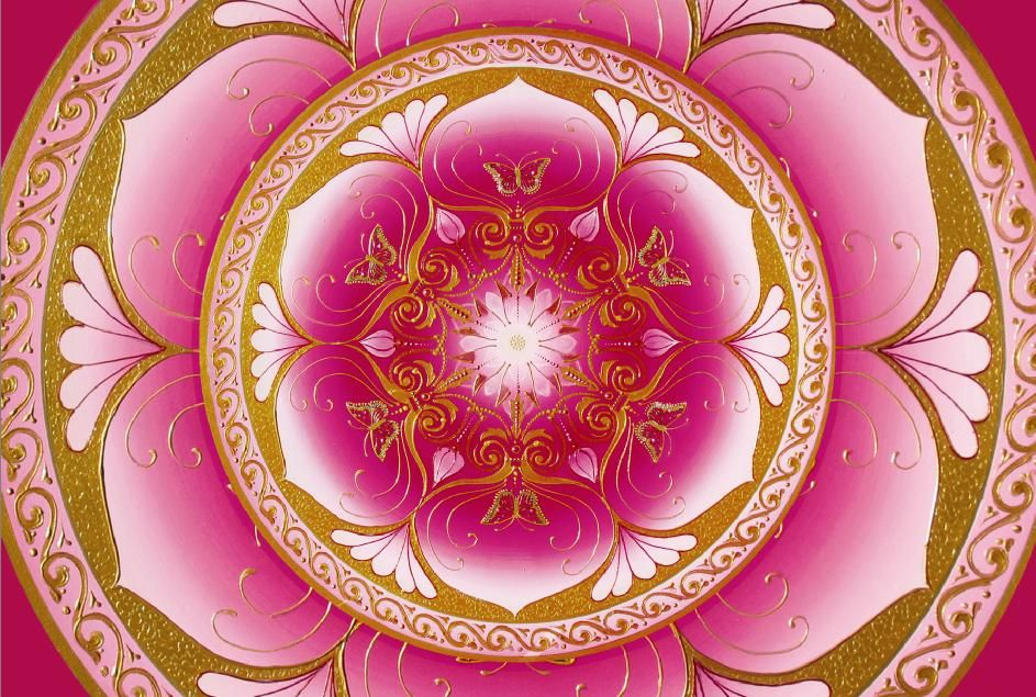 pink lotus mandala - Breathe the beautiful pink love energy into every cell of your body, breathing in love, joy and peace and breathing out any darkness, any heaviness, as you allow love to flow through your body now and always xx