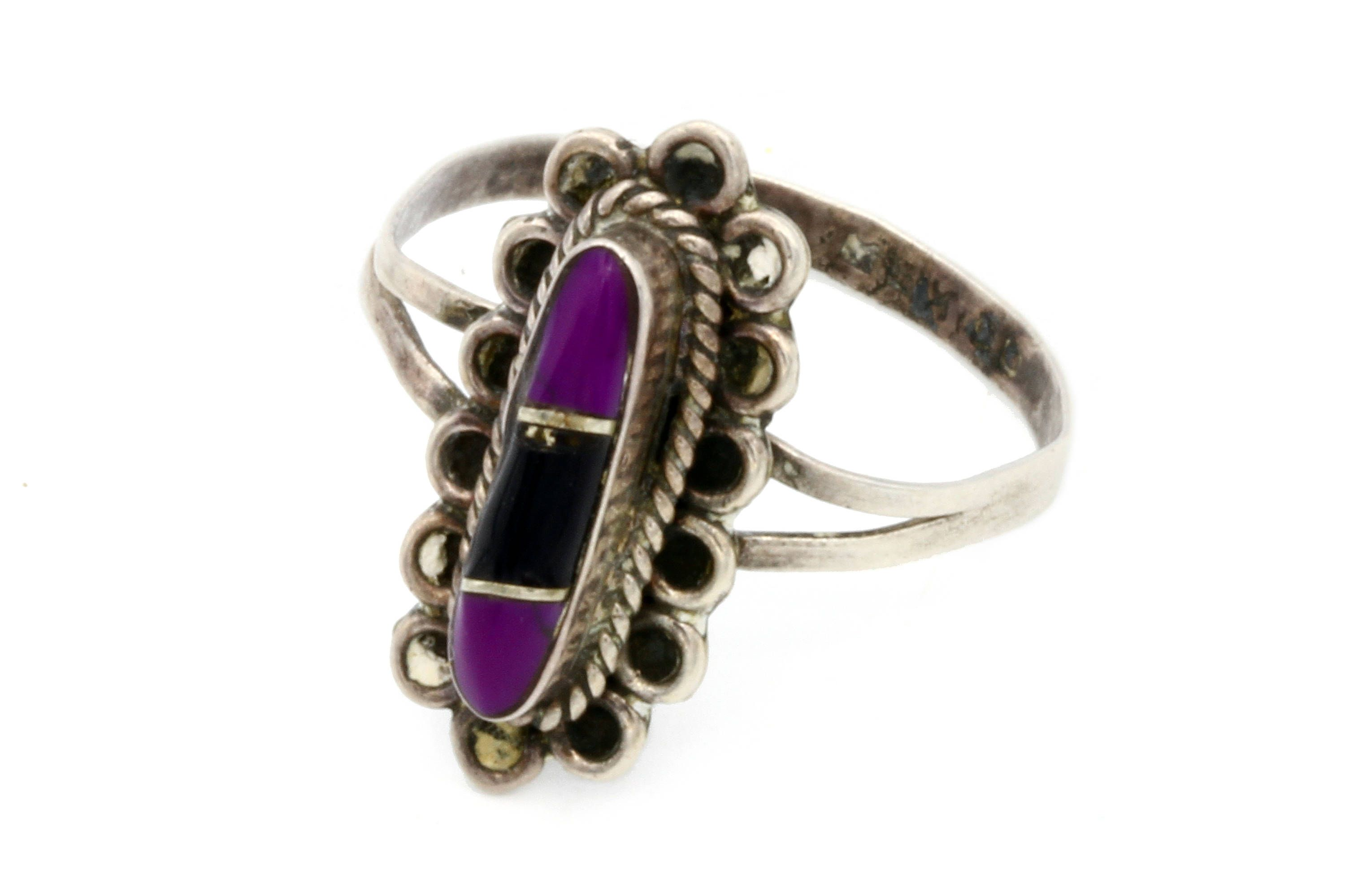 sterling ring  size 7  rare  purple  native  sterling silver ring Native American Jewelry   womens jewelry  estate jewelry,