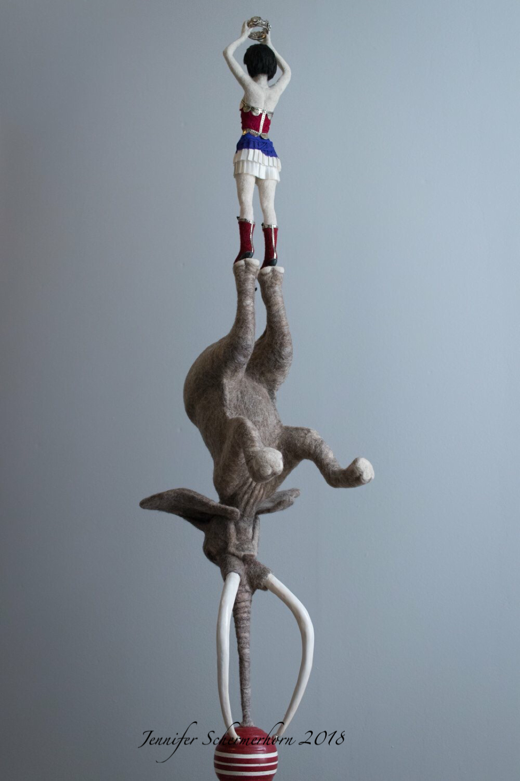 Rise & Reign - Needle felted wool on wire armature 48\